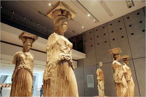 The Caryatid sculptures late 5th century B